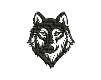 WOLF - machine embroidery design - Instant Download