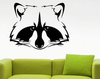 Raccoon Wall Decal Animal Sticker Home Interior Design Living Room Decor Bedroom Wall Art Murals Removable Stickers 1razz
