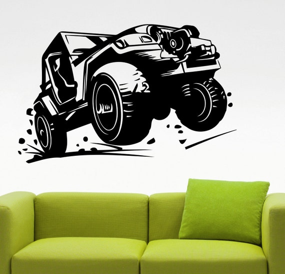 Jeep Wall Decal Jeep Wrangler Sticker Home Interior Design