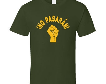 No Pasaran! They Shall Not Pass - Protest Shirt With Raised Fist