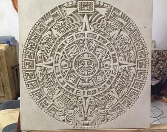 Mayan calendar on stone-Mayan Calendar on stone