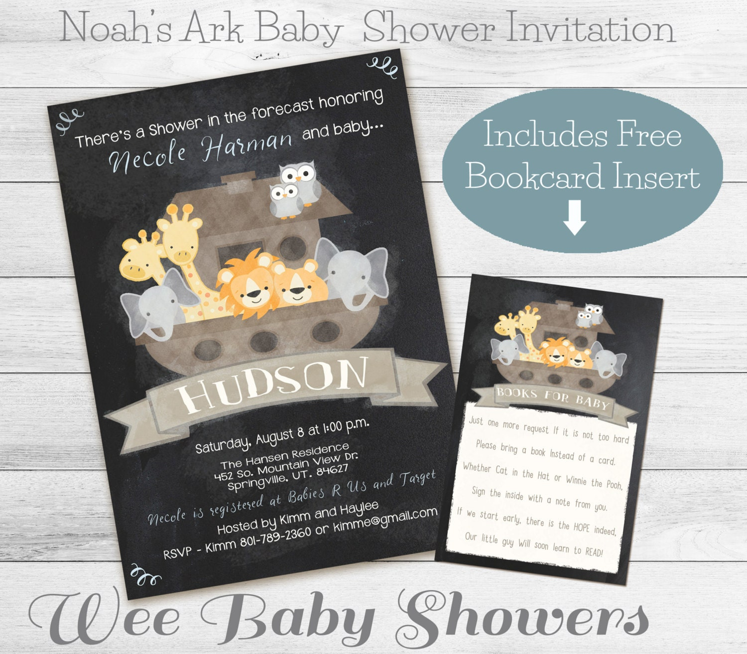noah 39 s ark baby shower chalkboard baby shower by weebabyshower