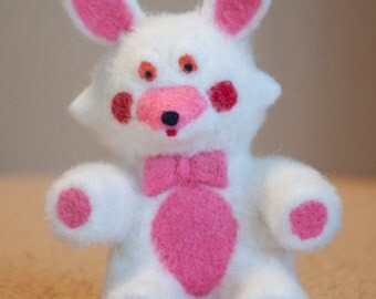 Mangle Plush from FNAF needle felted toy, natural wool soft sculpture