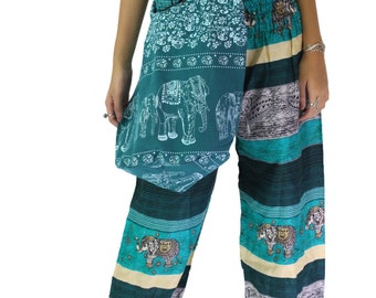 cross body bag shoulder bag elephant bag hippie bag in sea green