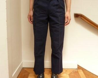 pantalon de travail neuf des années 1950, mettise lin indigo, cadavres d'animaux vintage français workwear