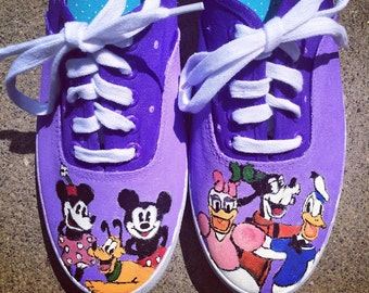 Painted Mickey and Friends Shoes