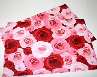 25 Designer Poly Mailers 10x13 Pink Red Roses Flowers Envelopes Shipping Bags Spring Mother's Day