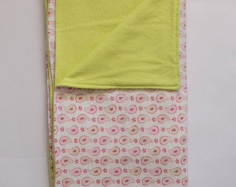 Extra Large Receiving Blanket for Baby Girl - Double layers flannel blanket - Baby shower gift