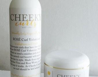 Cheeky Curls Full Size Set - 3 PRODUCTS - Curl Cream, Hair Spray, Custard, Hair Product, Hair Gel, Organic Ingredients, Natural Hair Care