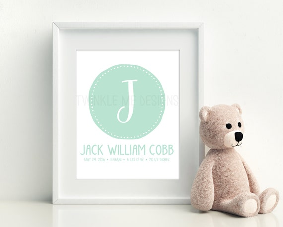Baby Boy Gifts With Name : Baby personalized gift new boy girl by