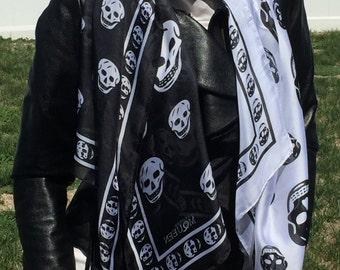 Alexander McQueen style silk scarf.