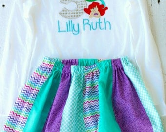 Inspired by The little mermaid outfit-personalized