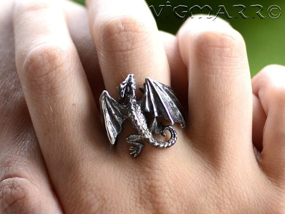 dragon wedding ring rings pendant silver celtic 3678