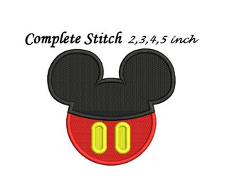 Mickey Mouse Embroidery Design - 4x4, 5x7 instant download