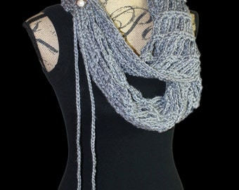 Grey Scarf, Heather Grey Artfully Simple Infinity Scarf, Grey Infinity Scarf, Feminine Scarf