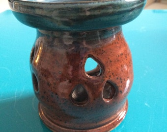 Blue and Brown Scentsy Burner