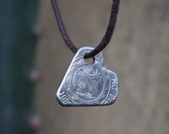 Handmade Philippines Piso Heart Pendant Necklace