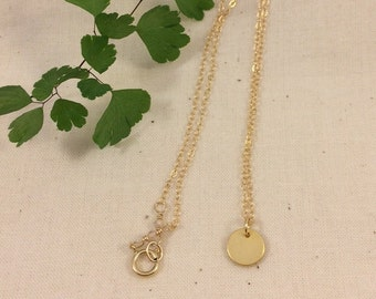 Vermeil Circle on 14k Gold Filled Chain