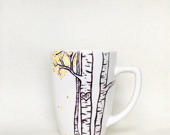 Initials in a tree mug