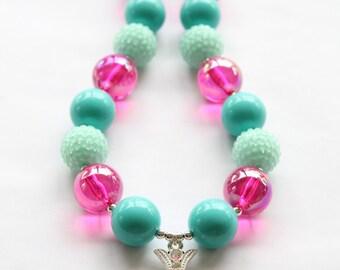 Cross Bubblegum Necklace
