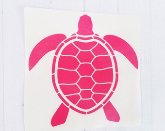 Turtle decal| Sea turtle decal | turtle sticker | ocean decal | coffee cup decal | car decal | iPhone decal | Yeti decal | laptop decal