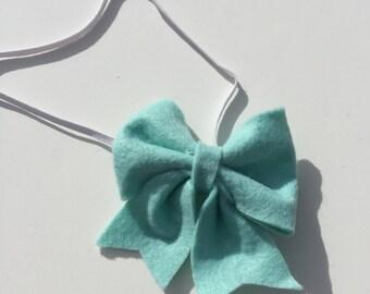 Light Turquoise Felt Bow