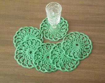 Set Of 6 Crochet Mini Doilies, Crochet Lace Doilies, Crochet Mini Doilies, Table Decor Doilies, Handmade Doilies