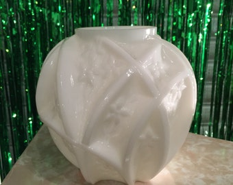 1950s Milk Glass Vase