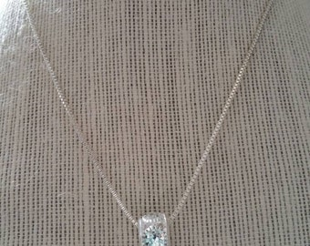 Sterling Silver Gem Encrusted Infinity Necklace