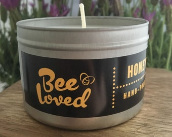 Honey Scented Soy Wax Tin Candle