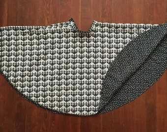 Reversible Black and White Circle Skirt