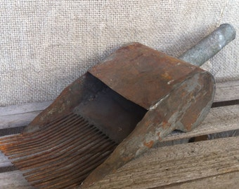 Antique Berry Picker, Old Instrument for Picking Berries in the Wood, Metal Tool.