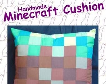 Grass Block from Minecraft. Handmade Minecraft Cushion.