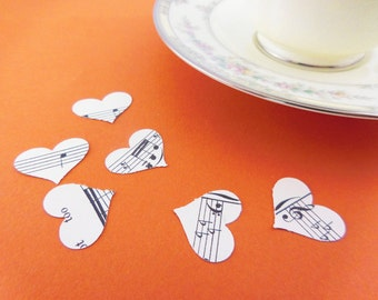 Vintage Wedding Confetti | Sheet Music Confetti | Heart Table Confetti | Party Item |Table Confetti | Music Confetti | Heart Confetti