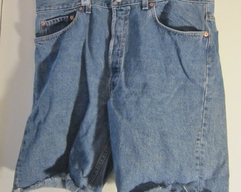 Vintage 501 Levi Button Fly Cut Off Shorts -Red Tag - Waist 38