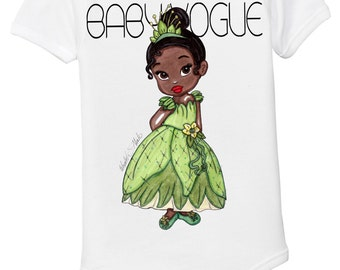 The Princess and the Frog Tiana baby girl onesie