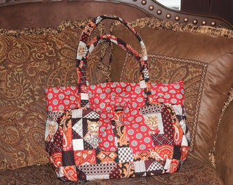 Cat Lovers Large Quilted Handbag.