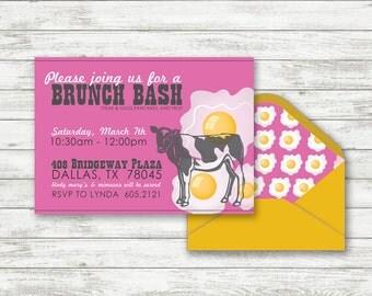 Brunch Party Einladung   Printable Frühstück Party Einladung   Geburtstag  Party