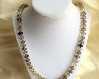 Oro Verde Quartz and garnet necklace