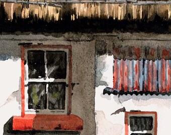 The Wee Room in Ireland  19x 13'' LTD ED GICLEE print