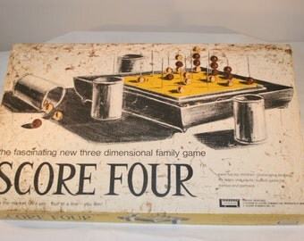 1971 Score Four Game//Three Dimensional Family Game