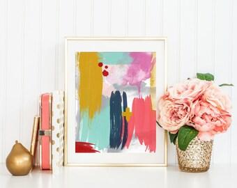 Abstract Art Printable Art Print, Modern Abstract Art, Modern Nursery Decor, Modern Art Printable, Modern Minimalist Office Decor, 8x10, #5