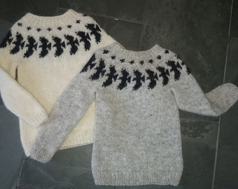 Raven Wool Sweater for children