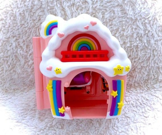 Vintage Care Bears Wish Bear Care A Lot Rainbow Cloud House