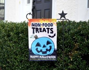 Teal Pumpkin Halloween Garden Flag