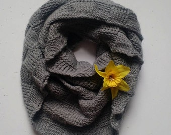 Box Knit Infinity Scarf
