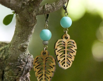 WOODEARZ TROPICAL wood earrings
