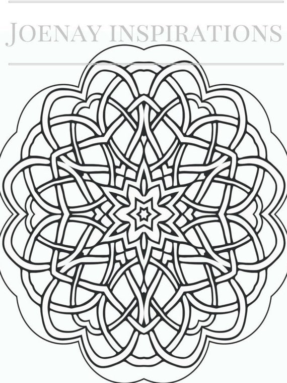 Adult Coloring Book, Printable Coloring Pages, Coloring Pages, Coloring Book for Adults, Instant Download, Magnificent Mandalas 1 page 10