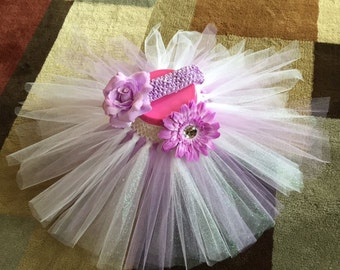 Crochet Headband and Tutu Set