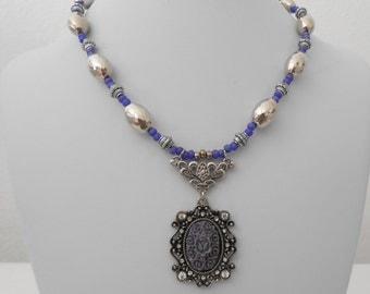 purple victorian necklace